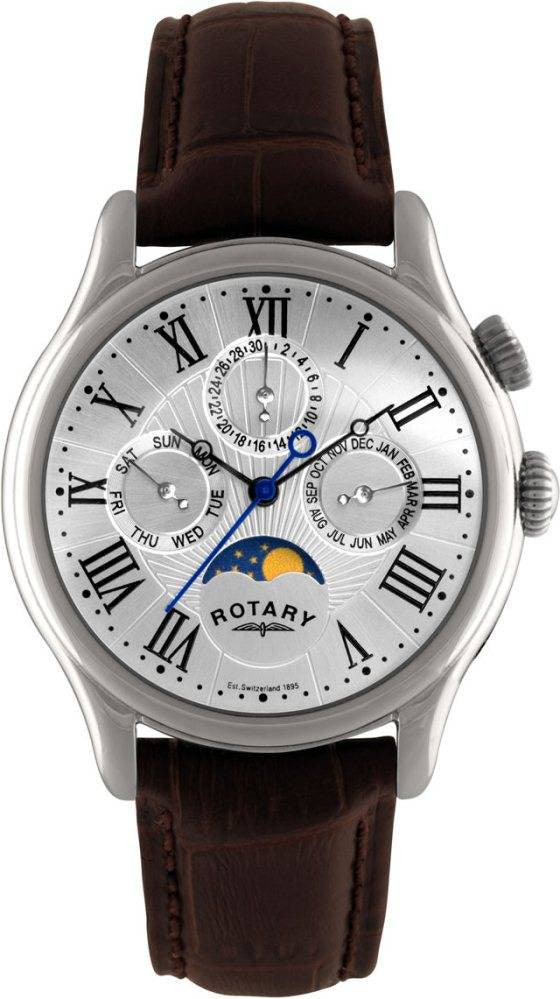 Rotary Watch Moonphase Core Mens