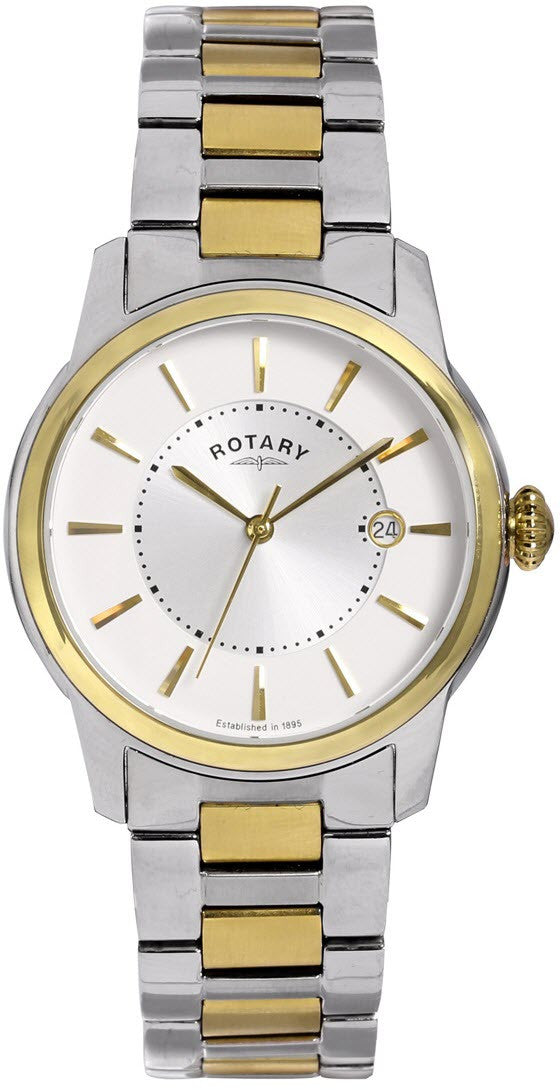 Rotary Watch Two Tone Gents