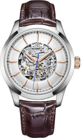 Rotary Watch Skeleton Automatic