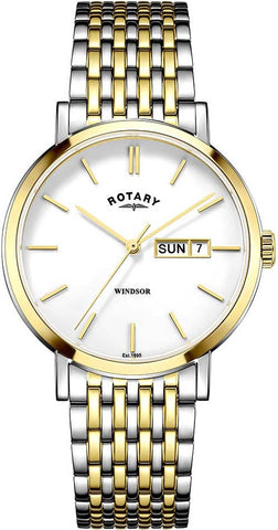 Rotary Watch Gents Two Tone Bracelet