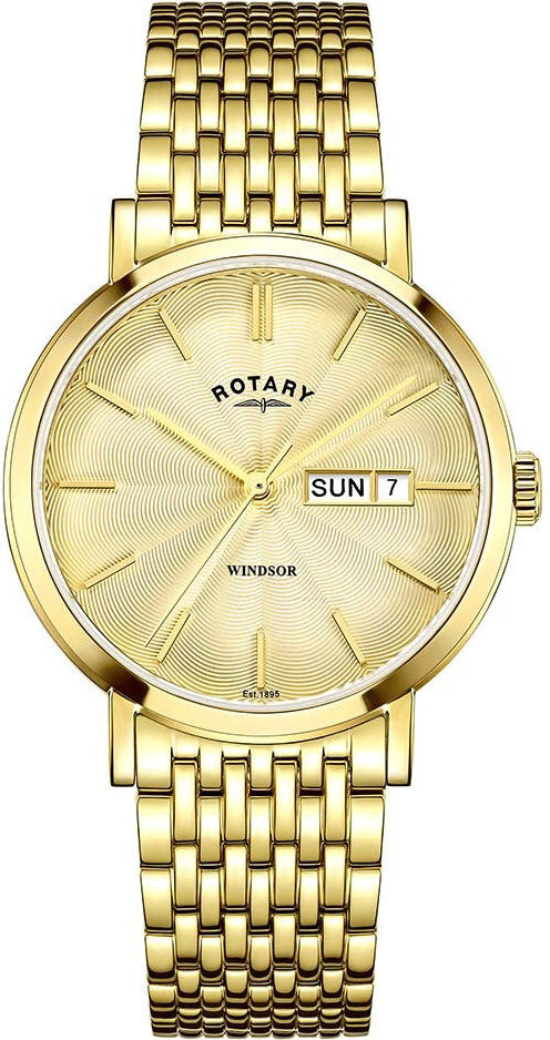 Rotary Watch Gents Gold Plated Bracelet