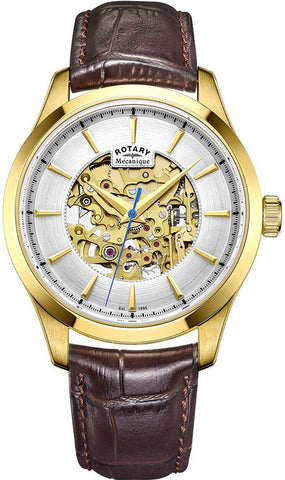 Rotary Watch Gents Gold Plated Strap