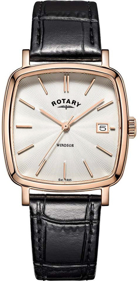Rotary Watch Windsor Cushion Mens
