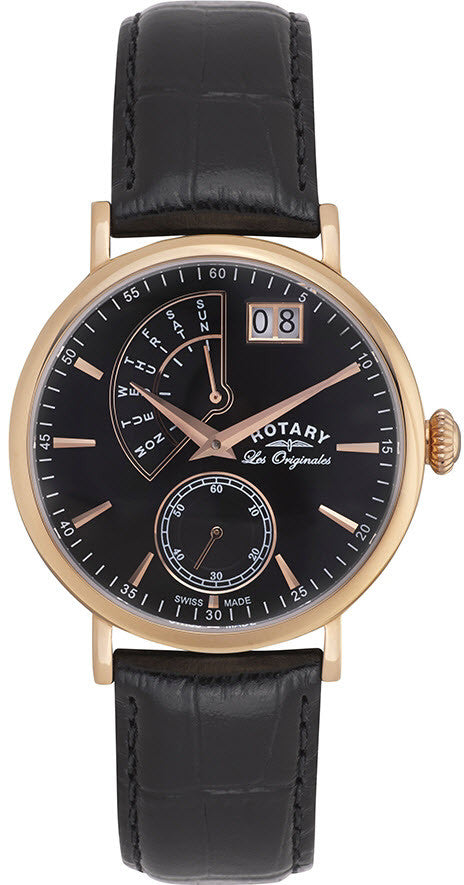 Rotary Watch Les Originales Big Date Mens