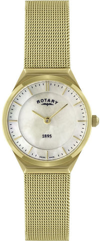 Rotary Watch Ladies Gold Plated Bracelet