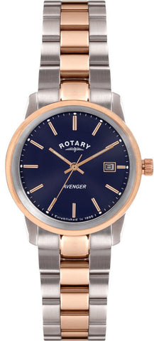 Rotary Watch Ladies Two Tone Bracelet