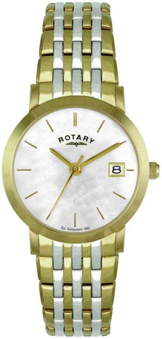 Rotary Watch Ladies Bracelet Two Tone
