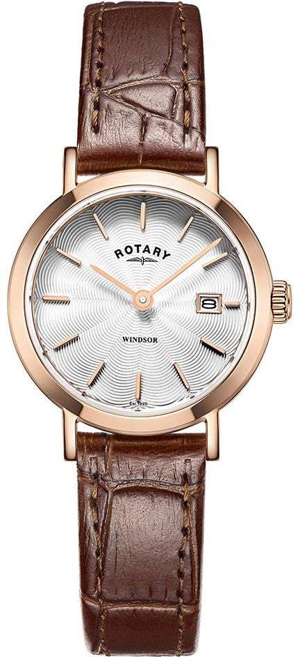 Rotary Watch Ladies Gold Plated Strap