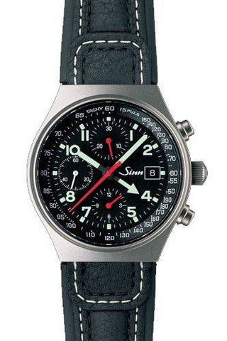 Sinn World Time Chronograph 144 GMT Ti Leather D