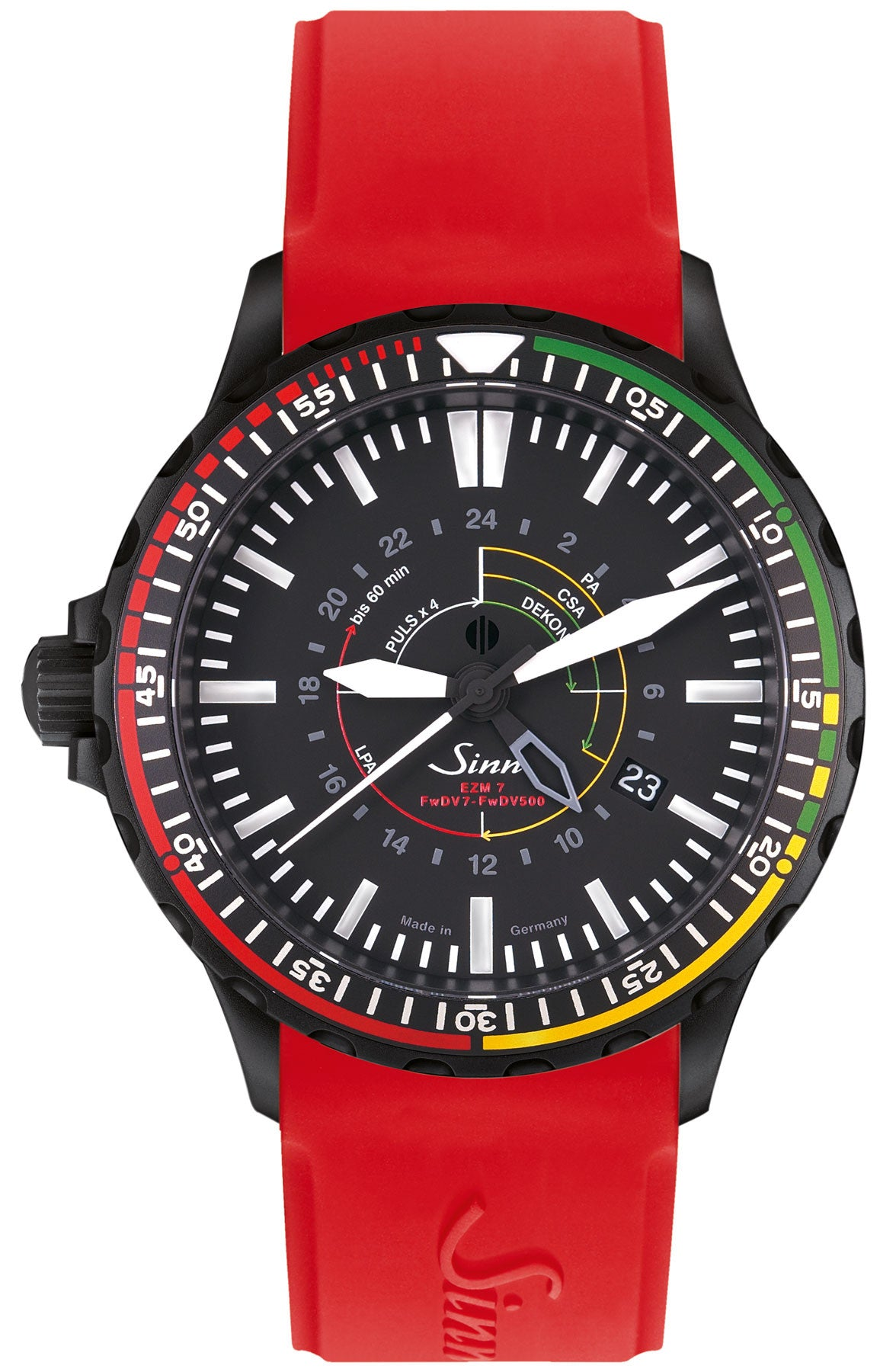 Sinn Watch EZM 7 S Rubber Red