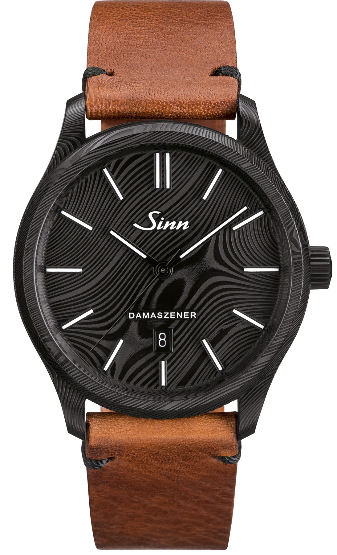 Sinn Watch 1800 S Damascus Steel Limited Edition Tan Leather