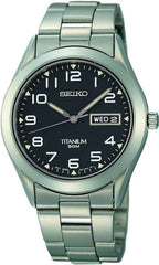 Seiko Watch Titanium Mens