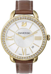 Swarovski Watch Aila Day Brown Yellow Gold Tone