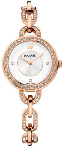 Swarovski Watch Aila White Rose Gold Tone Bracelet