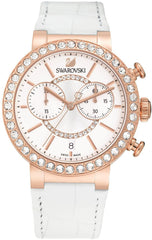 Swarovski Watch Citra Sphere Chrono White Rose Gold Tone