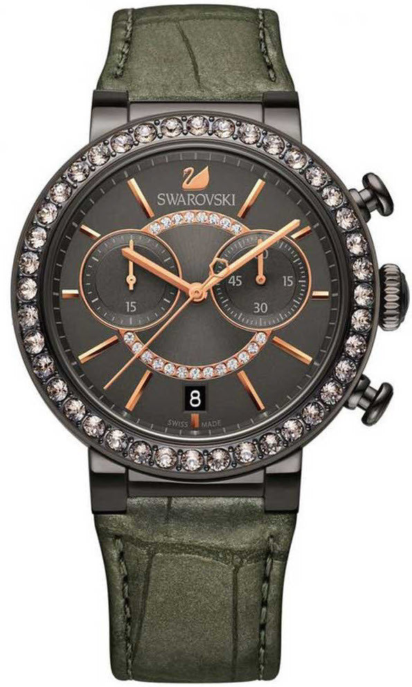 Swarovski Watch Citra Sphere Gun Metal Tone
