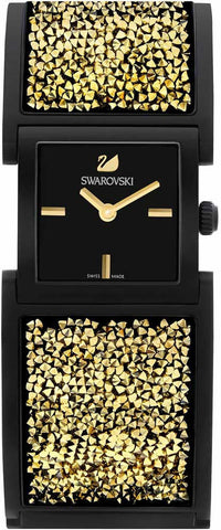 Swarovski Watch Crystalline Bangle Black/Light Gold Tone