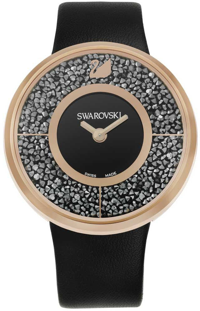 Swarovski Watch Crystalline Black Rose Gold Tone