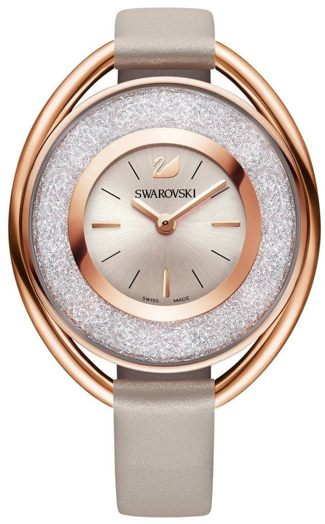 Swarovski Watch Crystalline Oval Rose Gold Tone