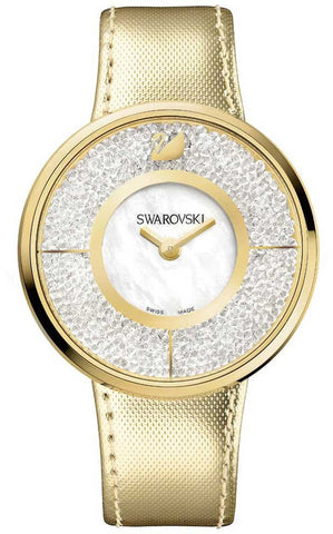 Swarovski Watch Crystalline White Yellow Gold Tone