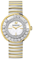 Swarovski Watch Lovely Crystals White Yellow Gold Tone