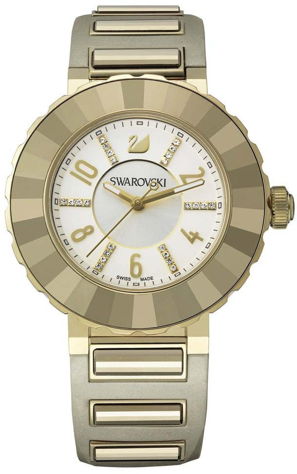 Swarovski Watch New Octea Sport White Light Gold Tone
