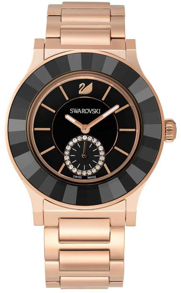 Swarovski Watch Octea Classica Black Rose Gold Tone Bracelet