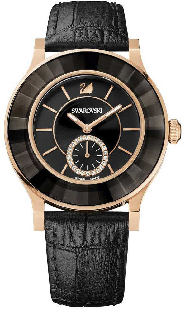 Swarovski Watch Octea Classica Black Rose Gold Tone