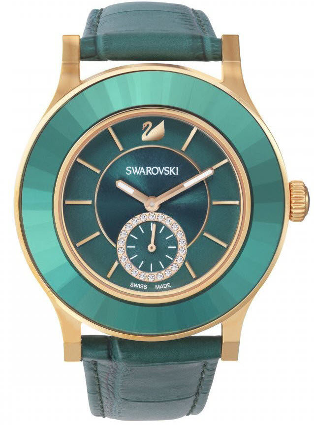 swarovski watches official swarovski uk stockist swarovski watch octea classica emerald rose gold tone