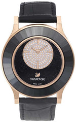 Swarovski Watch Octea Classica Asymmetric Black Rose Gold Tone