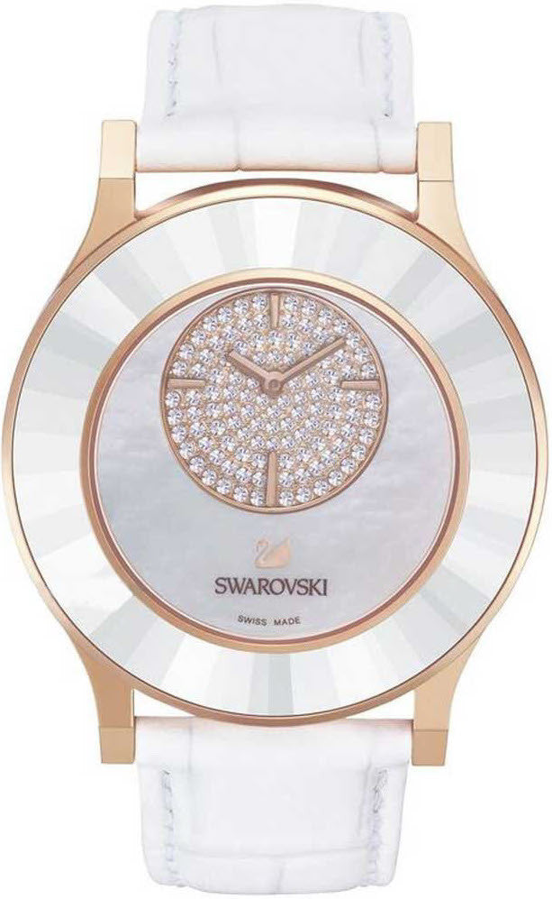 Swarovski Watch Octea Classica Asymmetric White Rose Gold Tone