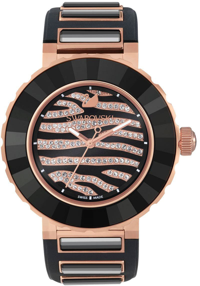 Swarovski Watch Octea Sport Zebra Rose Gold Tone