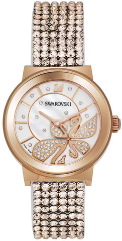 Swarovski Watch Piazza Lady Mesh Rose Gold Tone