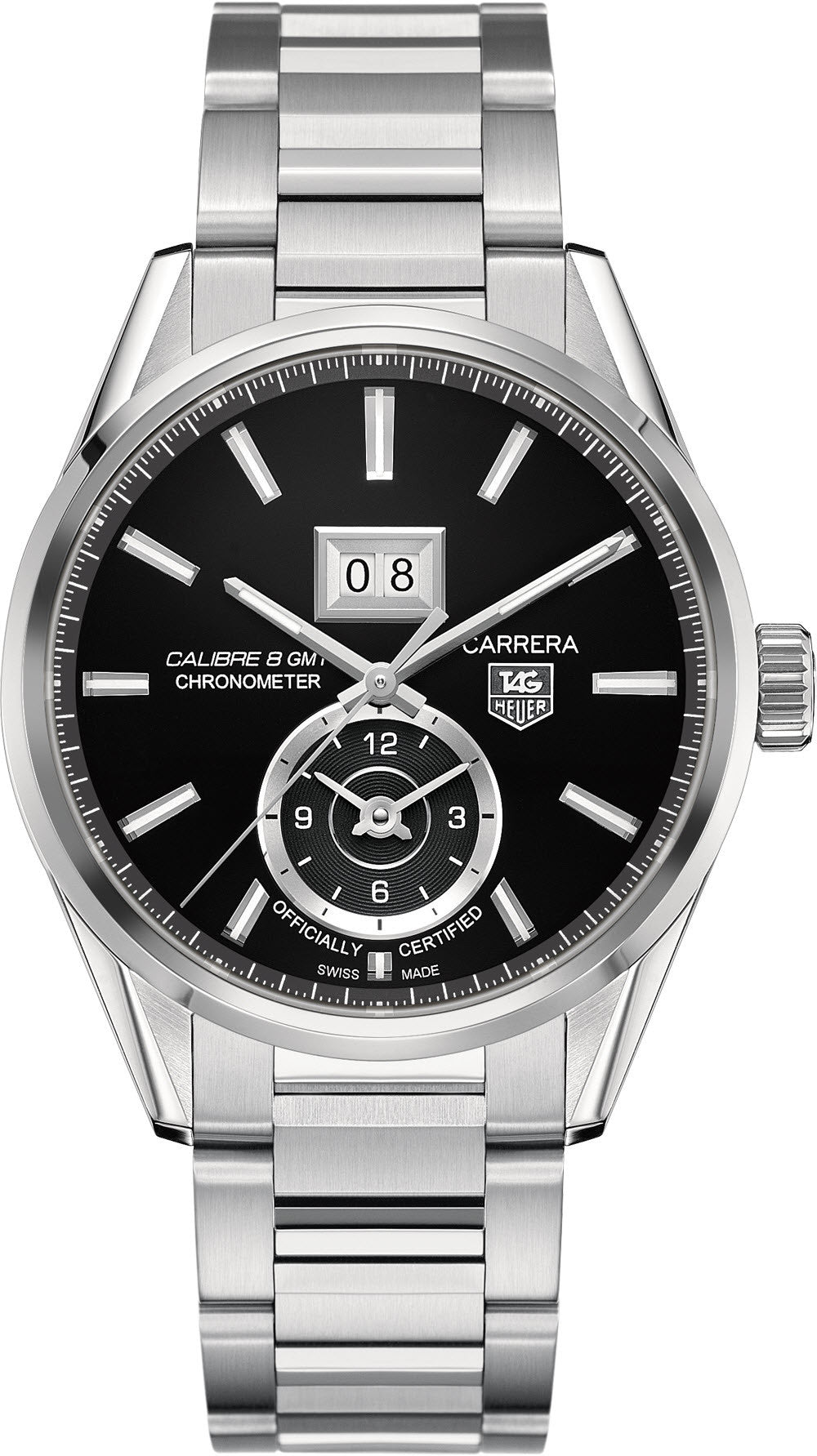 TAG Heuer Watch Carrera Grande Date GMT Calibre 8