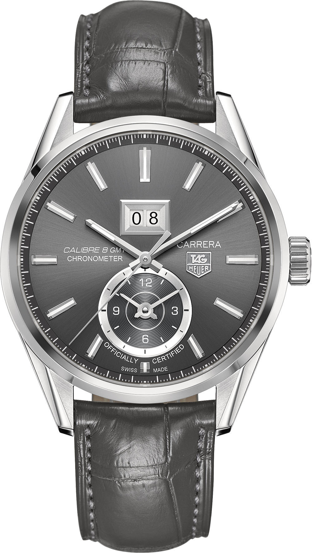 TAG Heuer Watch Carrera GMT Grande Date Calibre 8