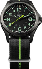Traser H3 Watches Active Lifestyle P67 Officer Pro GunMetal Black/Lime