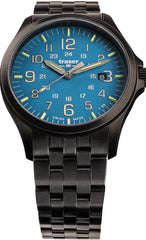 Traser H3 Watches Active Lifestyle P67 Officer Pro GunMetal Sky Blue