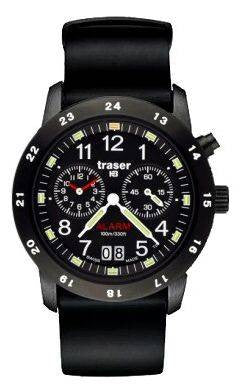 Traser H3 Watch Classic Alarm BD Pro Blue Silicon