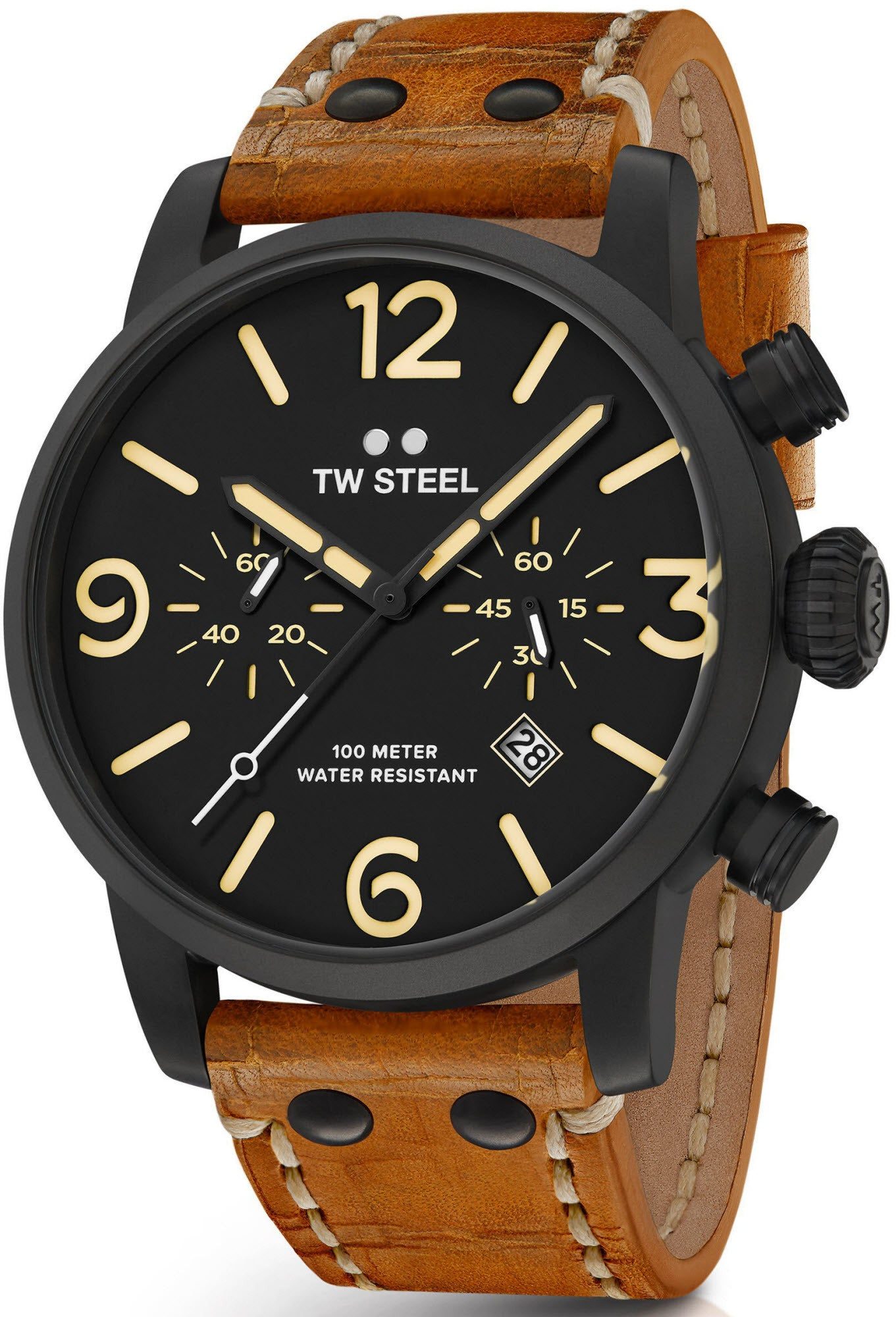 r watches victorinox leather comments maverick a strap brown with