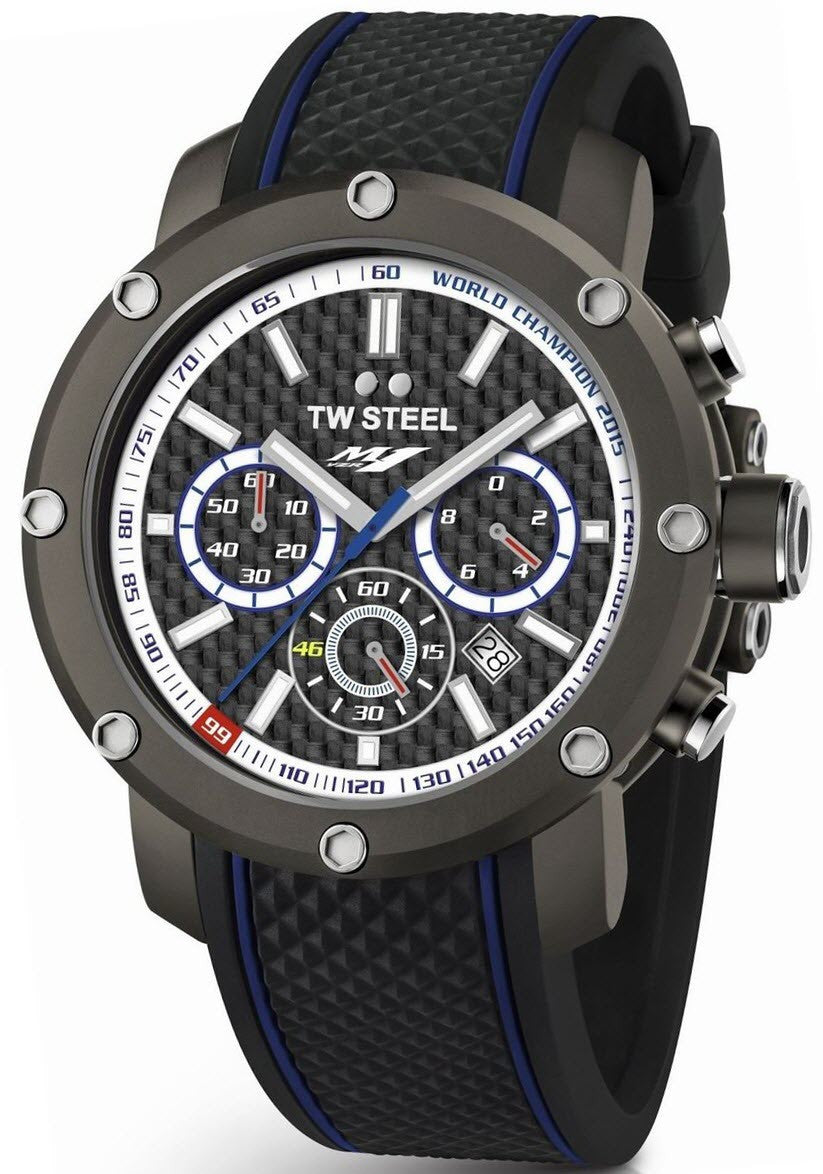 TW Steel Watch Grandeur Tech Yamaha Factory Racing Triple Crown 48mm Limited Edition
