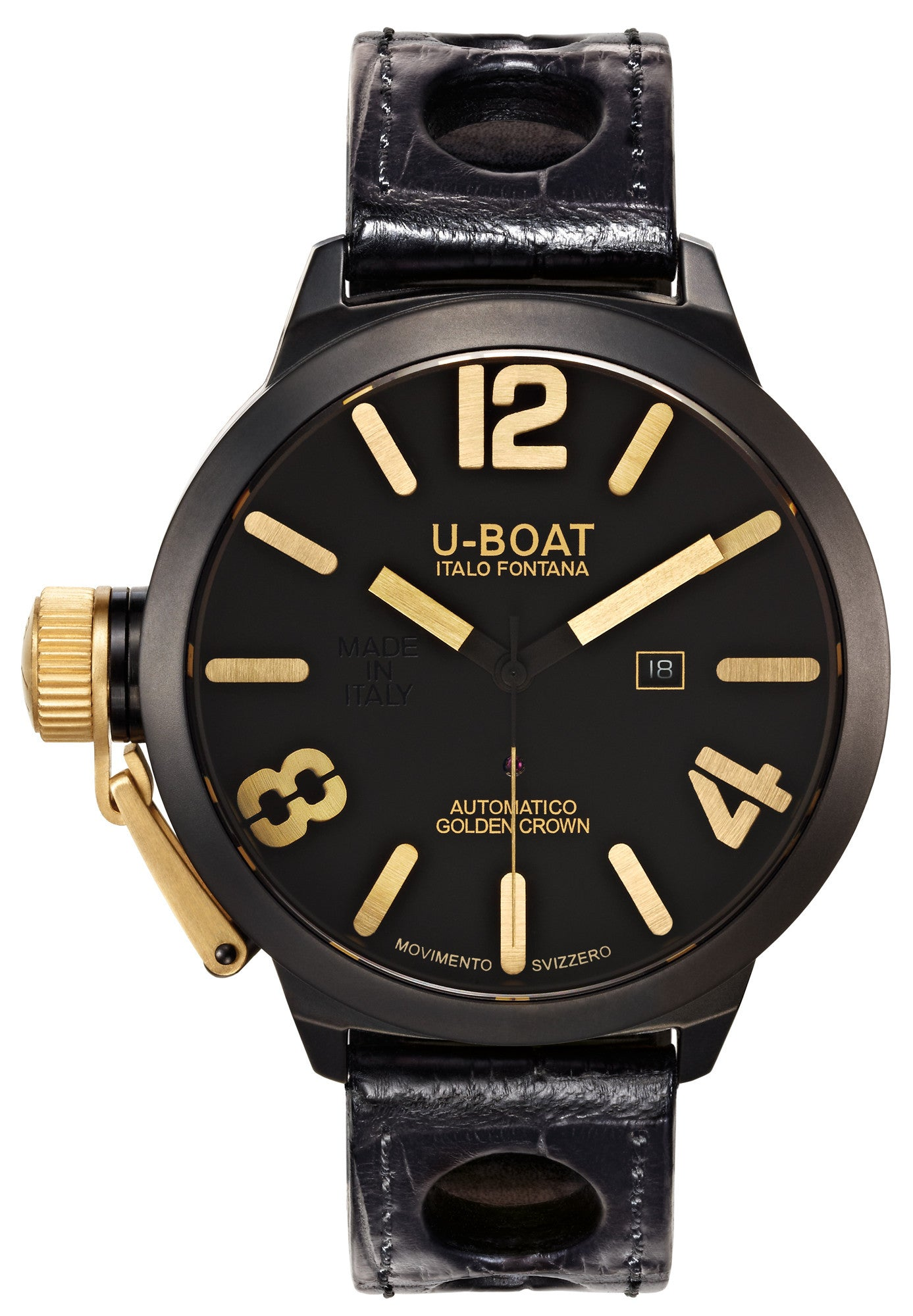 U-Boat Watch Classico Golden Crown 53 AB 18K Y 1 D
