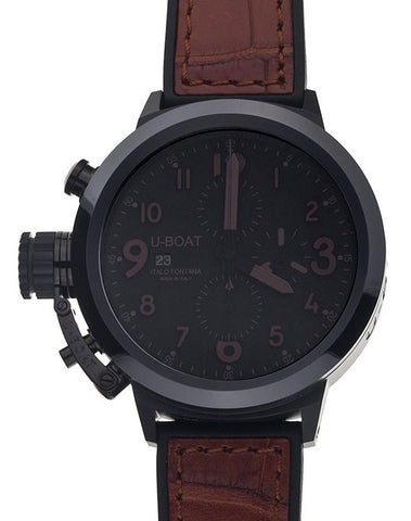 U-Boat Watch Flightdeck 50 Black Ceramic BK-BR
