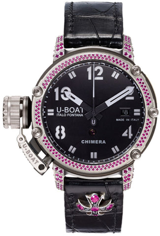 U-Boat Watch Chimera 43 PVD Ruby Diamonds Limited Edition D