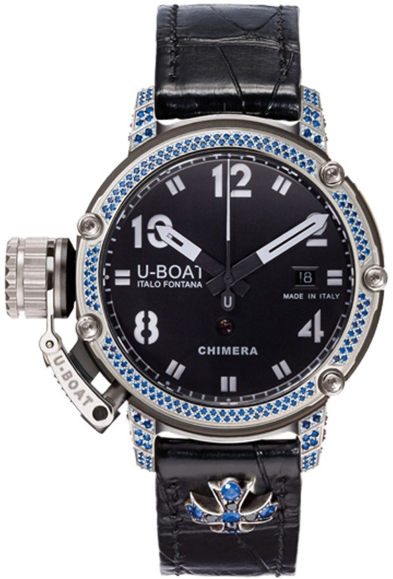 U-Boat Watch Chimera 43 PVD Sapphire Diamonds Limited Edition D