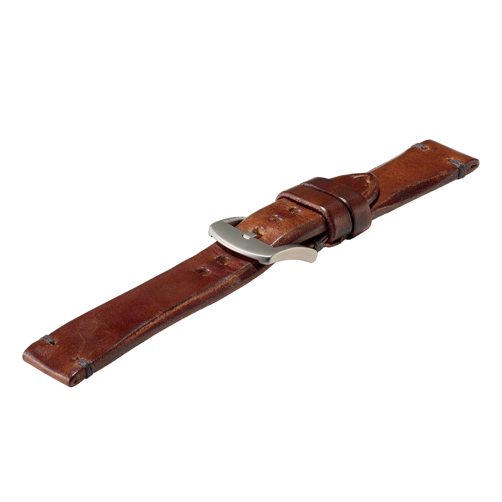 u-boat strap 4105 ss 20/20 leather brown buckle
