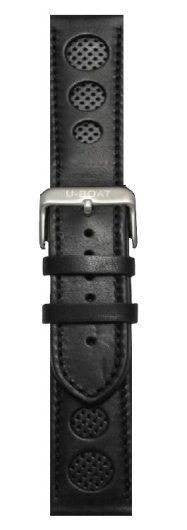 U-Boat 43mm Leather Black Steel Regular