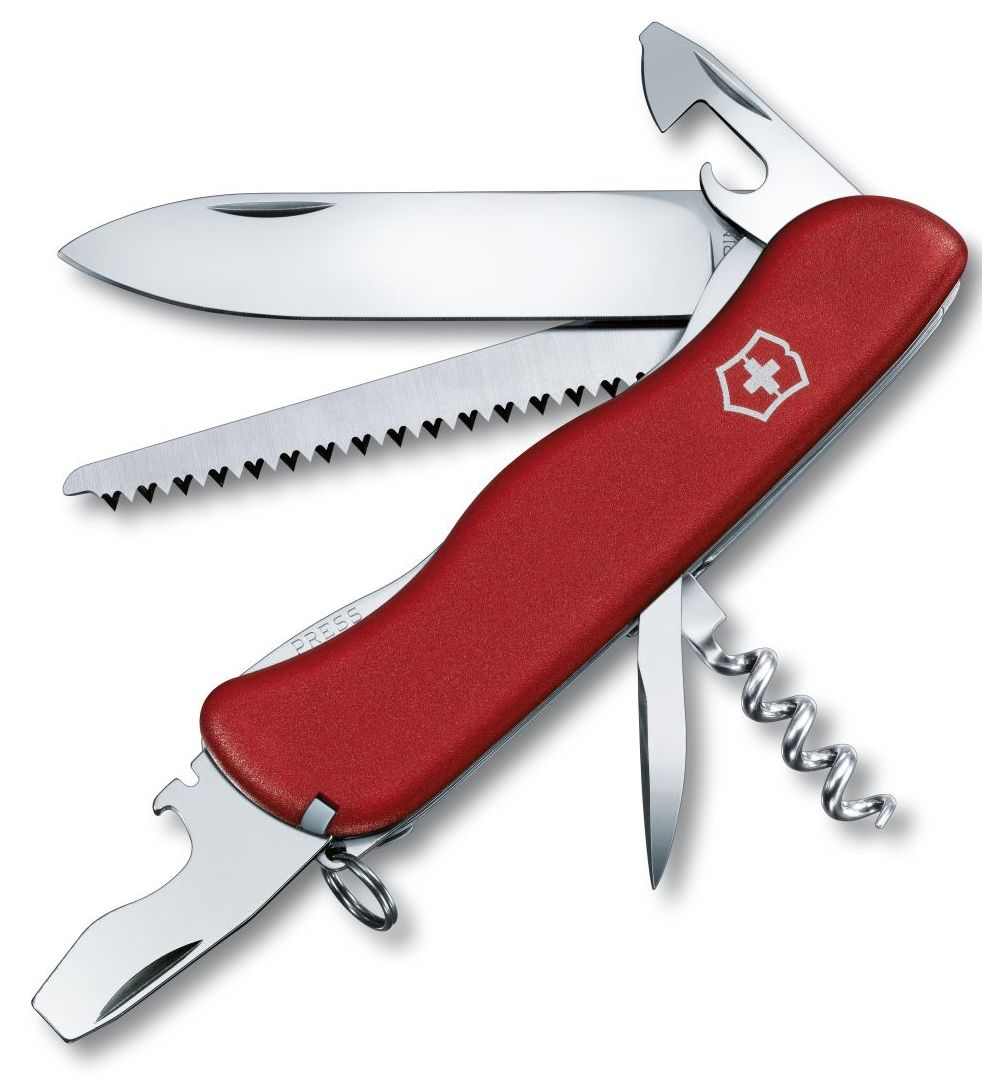 Victorinox Swiss Army Large Pocket Knife Forester Red