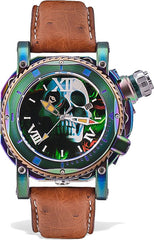 Visconti Watch Sport Dive Skull & Roses Blue Yellow