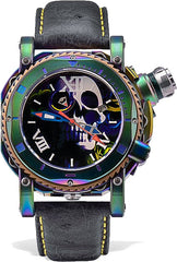 Visconti Watch Sport Dive Skull & Roses Red Green