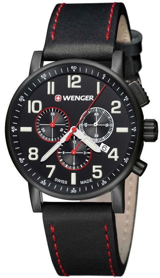 Wenger Watch Attitude Chrono Black